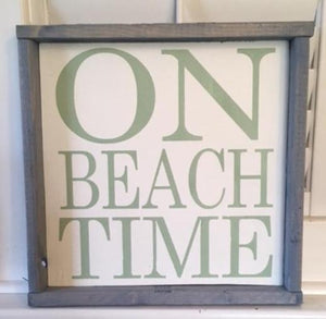 12in x 12in Custom Framed Wood Typography Sign