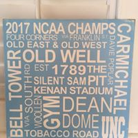 12in x 12in Custom Wood Typography Sign