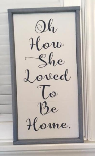 12in x 24in Custom Framed Wood Typography Sign