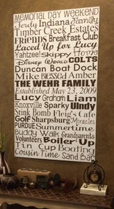 36in x 60in Custom Wood Typography Sign