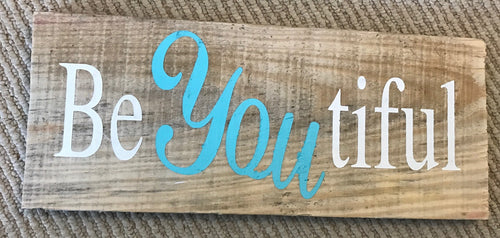 5in x 13in Custom Reclaimed Wood Typography Sign