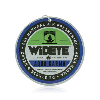 Natural aromatherapy essential oil 'Aqua Karma' patchouli, lime and bergamot air freshener for your car or home by WiDEYE