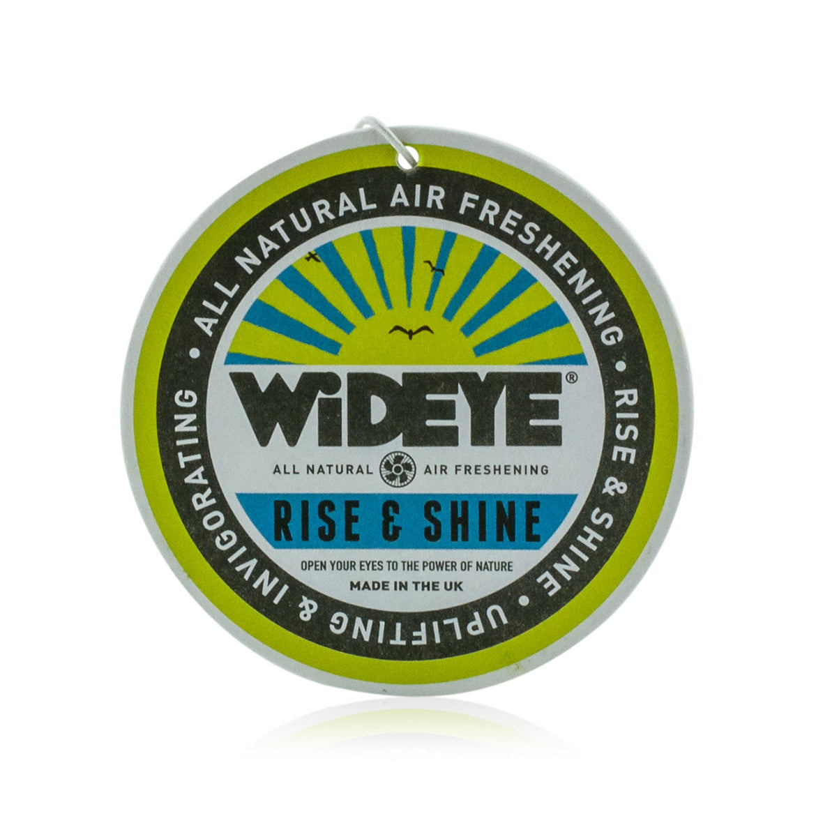Natural aromatherapy 'Rise & Shine' re-chargeable air freshener for your car or home handmade by WiDEYE in Rye.