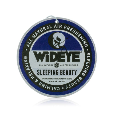 Natural vegan aromatherapy Sleeping Beauty air freshener for your car or home, handmade by WiDEYE in Rye.
