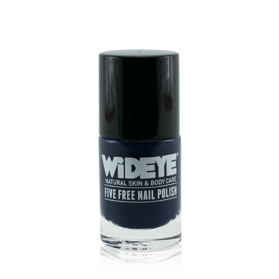 Dark blue nail varnish in glass bottle by WiDEYE