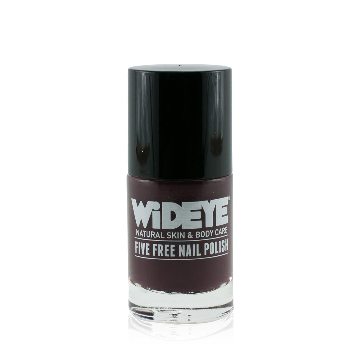 Dark brown nail varnish in glass bottle by WiDEYE