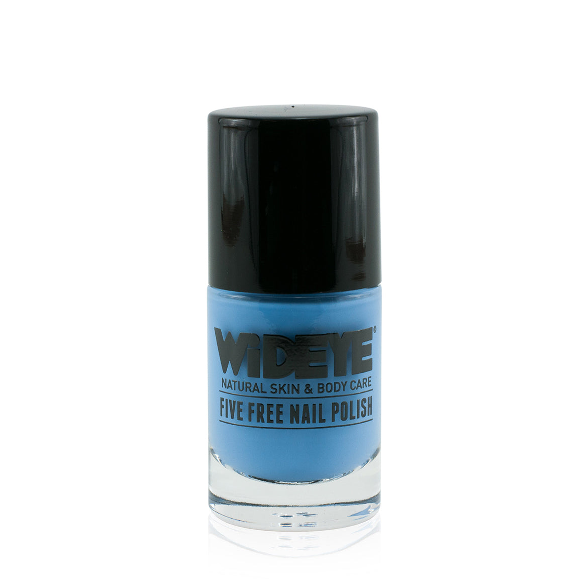 Sky blue nail polish in glass bottle by WiDEYE.