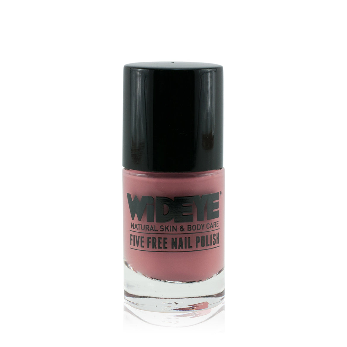 Blush pink nail varnish in glass bottle by WiDEYE.