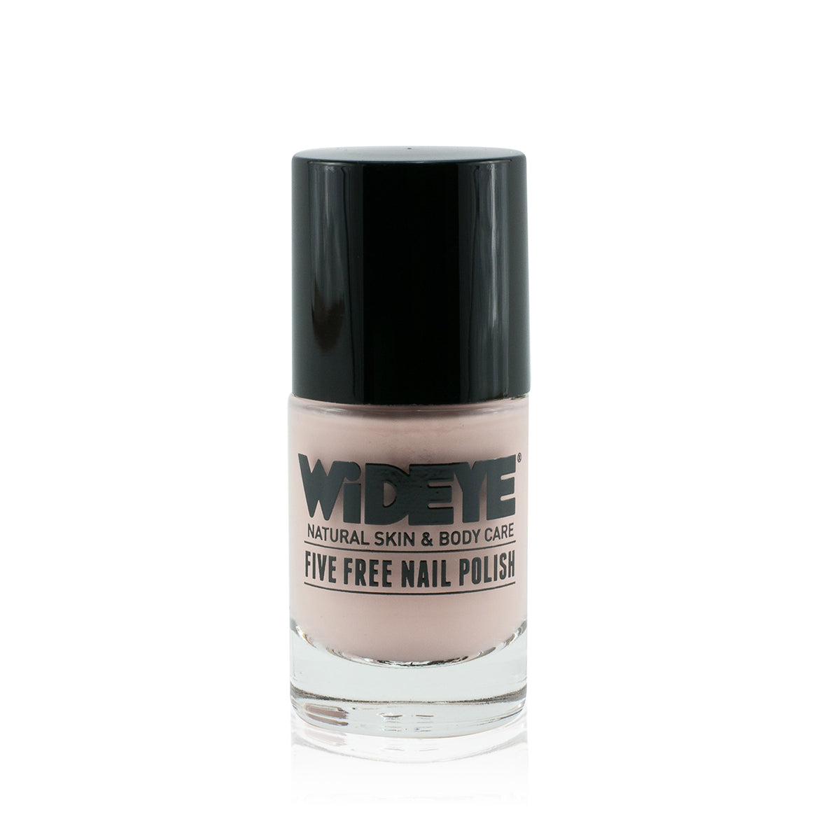 Pale pink nail varnish in glass bottle by WiDEYE.