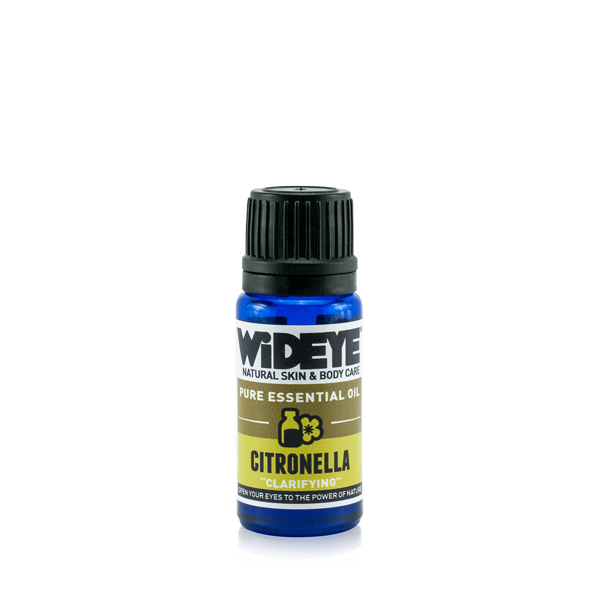 Natural aromatherapy Citronella essential oil in glass bottle by WiDEYE