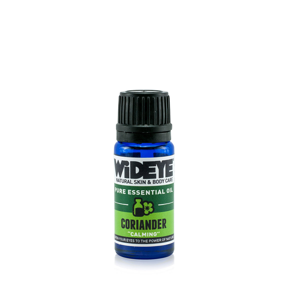 Natural aromatherapy Coriander essential oil in glass bottle by WiDEYE