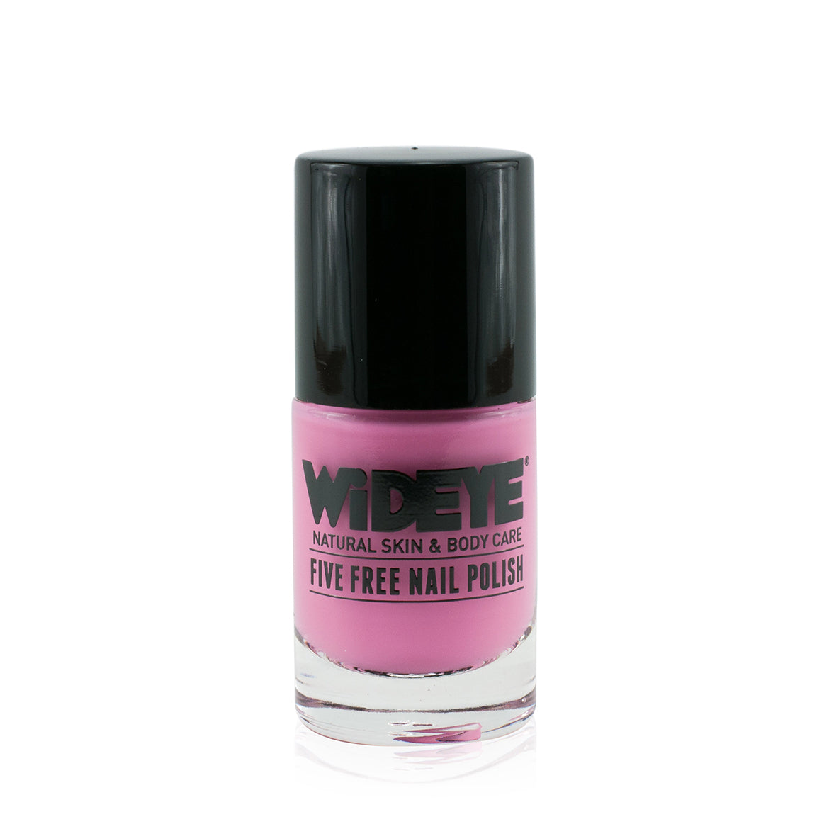 Baby pink nail polish in glass bottle by WiDEYE.