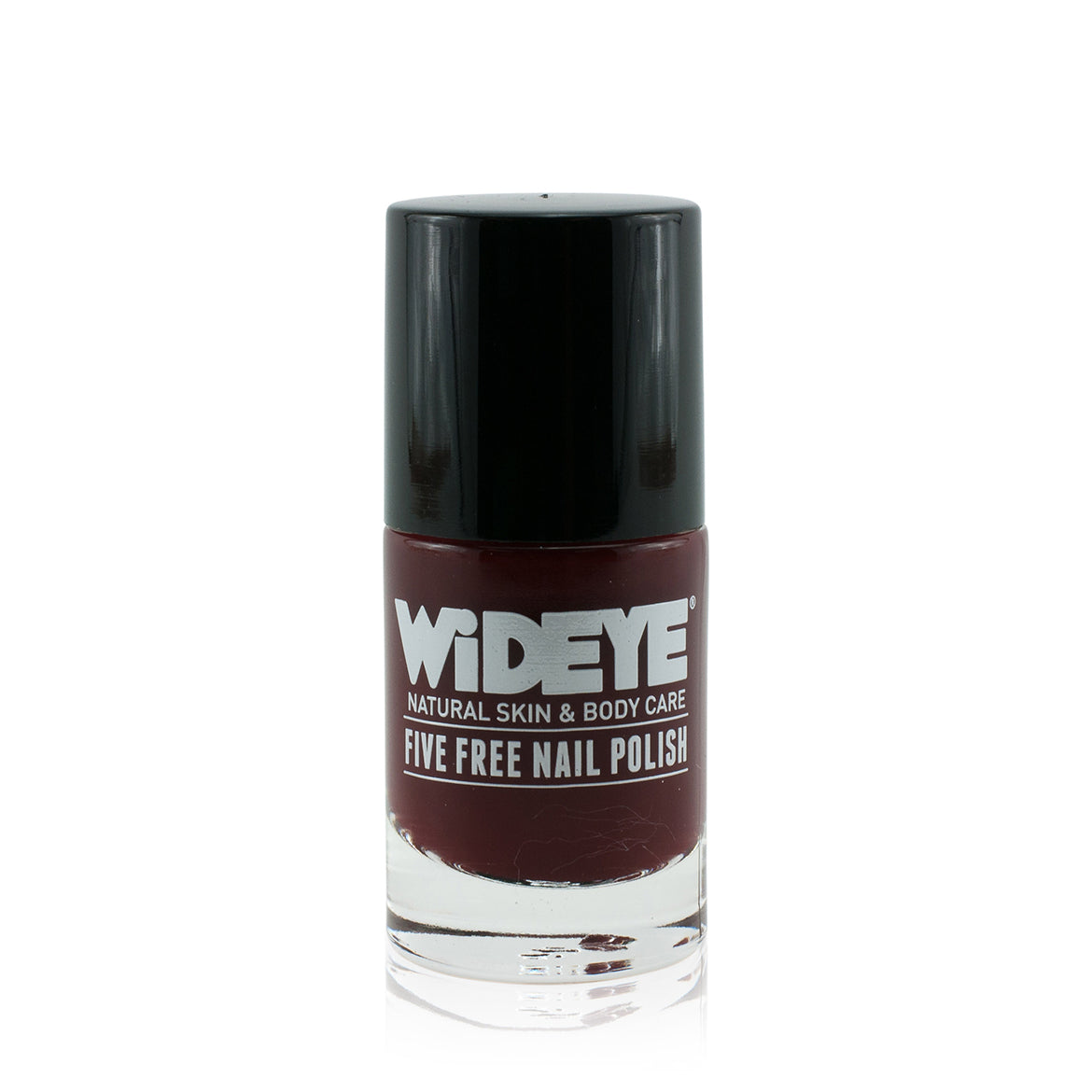 Dark red nail varnish in glass bottle by WiDEYE
