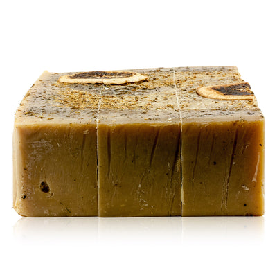 Natural vegan skincare Elderflower, Grapefruit and Apricot mineral soap block handmade by WiDEYE in Rye.