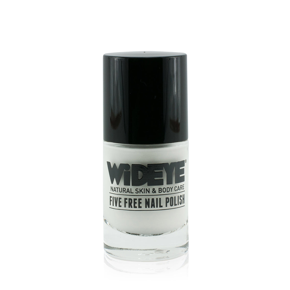 French White nail varnish in glass bottle by WiDEYE.