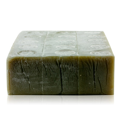 Natural vegan skincare Green Clay mineral soap block handmade by WiDEYE in Rye.