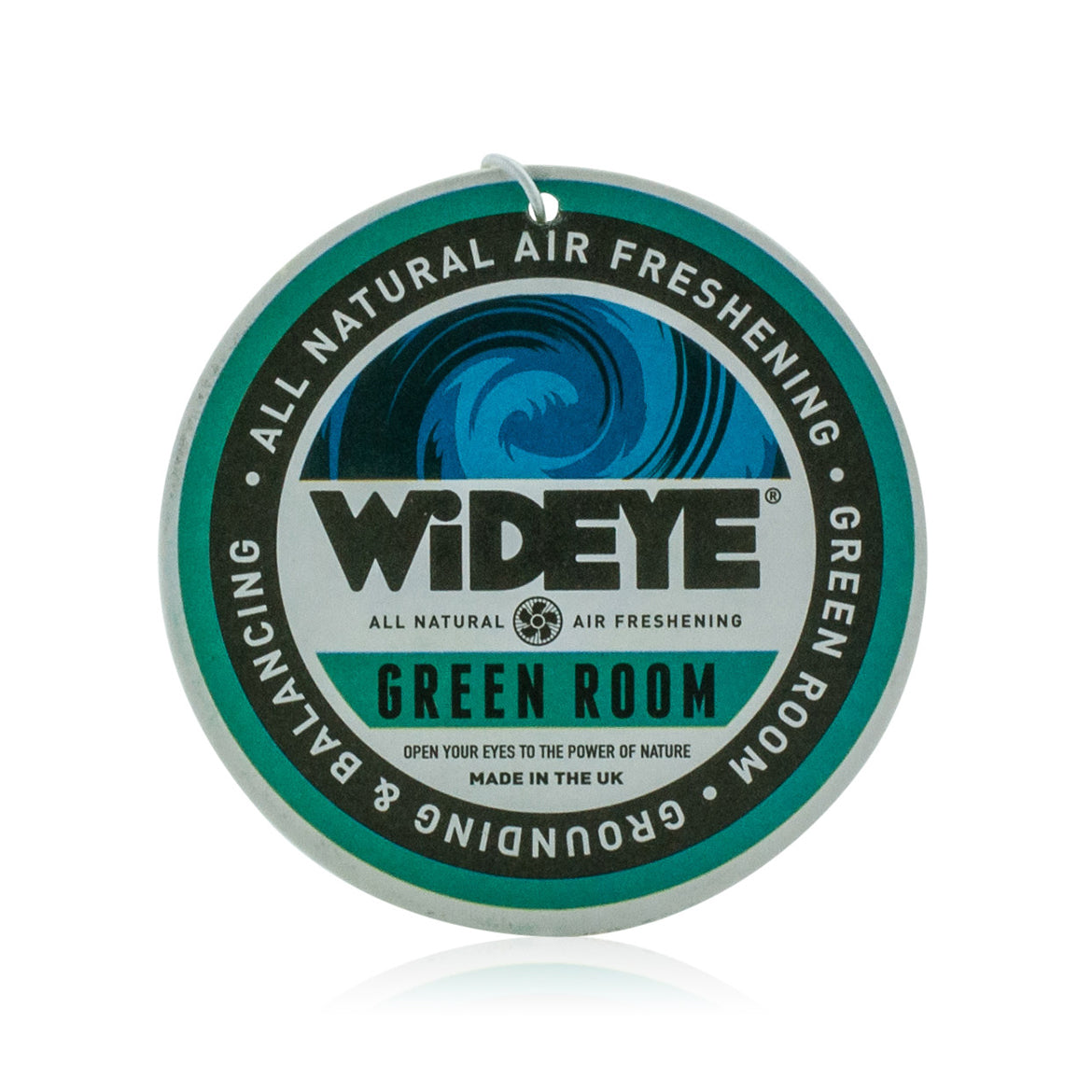 Natural aromatherapy 'Green Room' re-chargeable air freshener for your car or home handmade by WiDEYE in Rye.