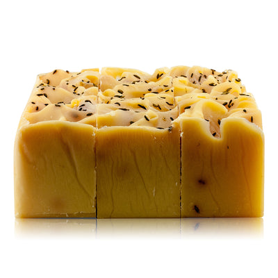 Natural vegan skincare Jojoba oil soap block handmade by WiDEYE in Rye.
