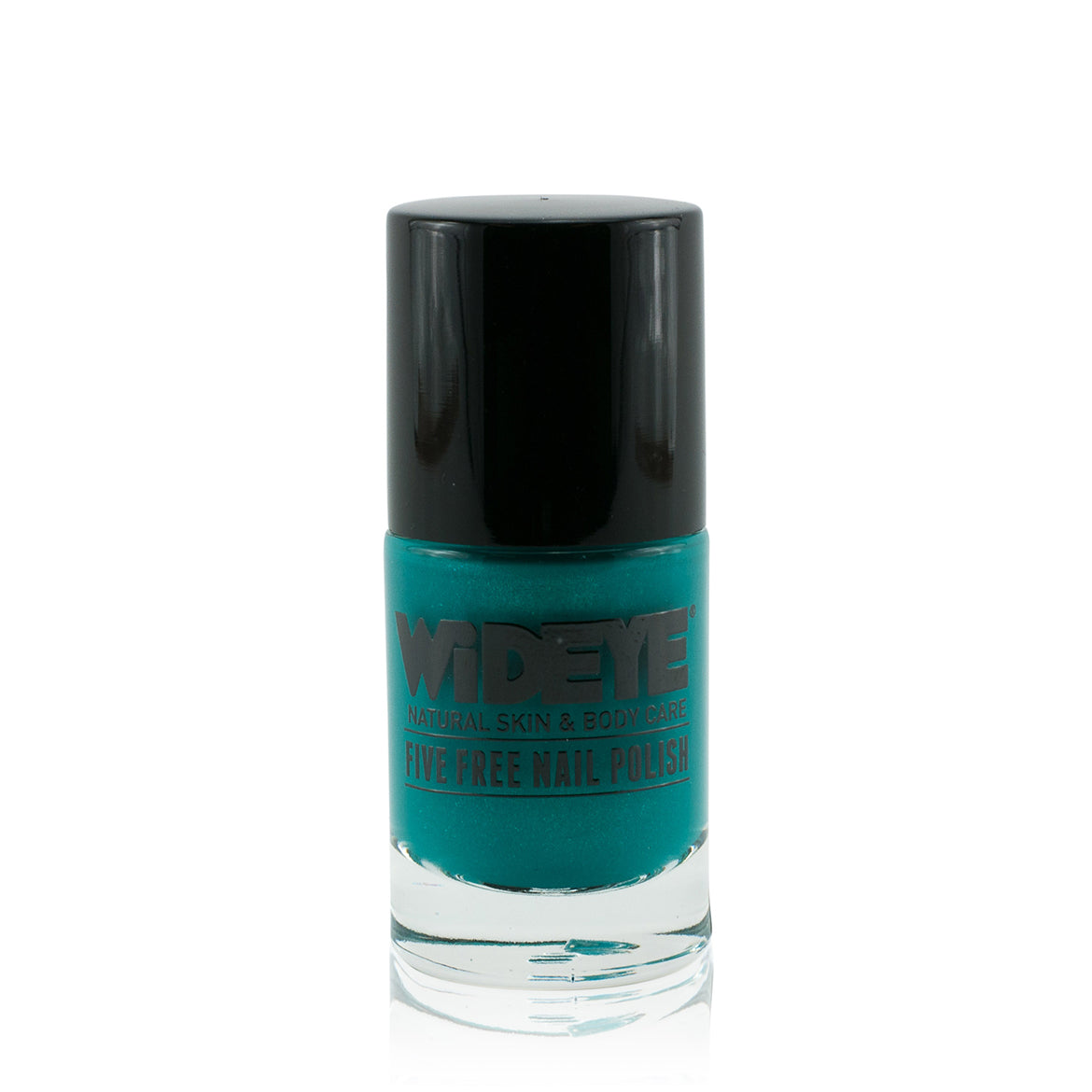 Aquamarine blue nail varnish in glass bottle by WiDEYE