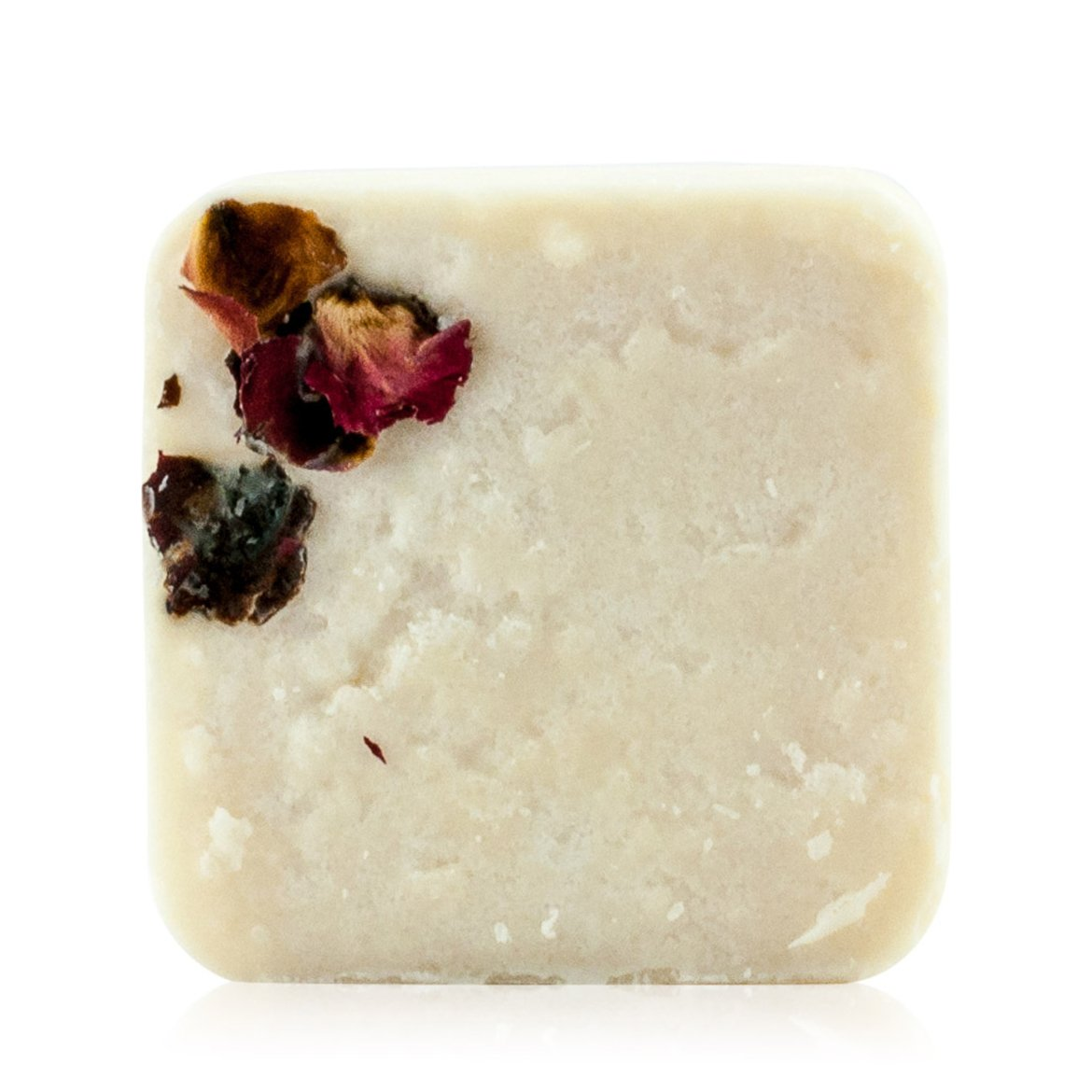 Natural vegan skincare 'Late Lounge' salt scrub body exfoliate decorated with rose petals handmade by WiDEYE in Rye.