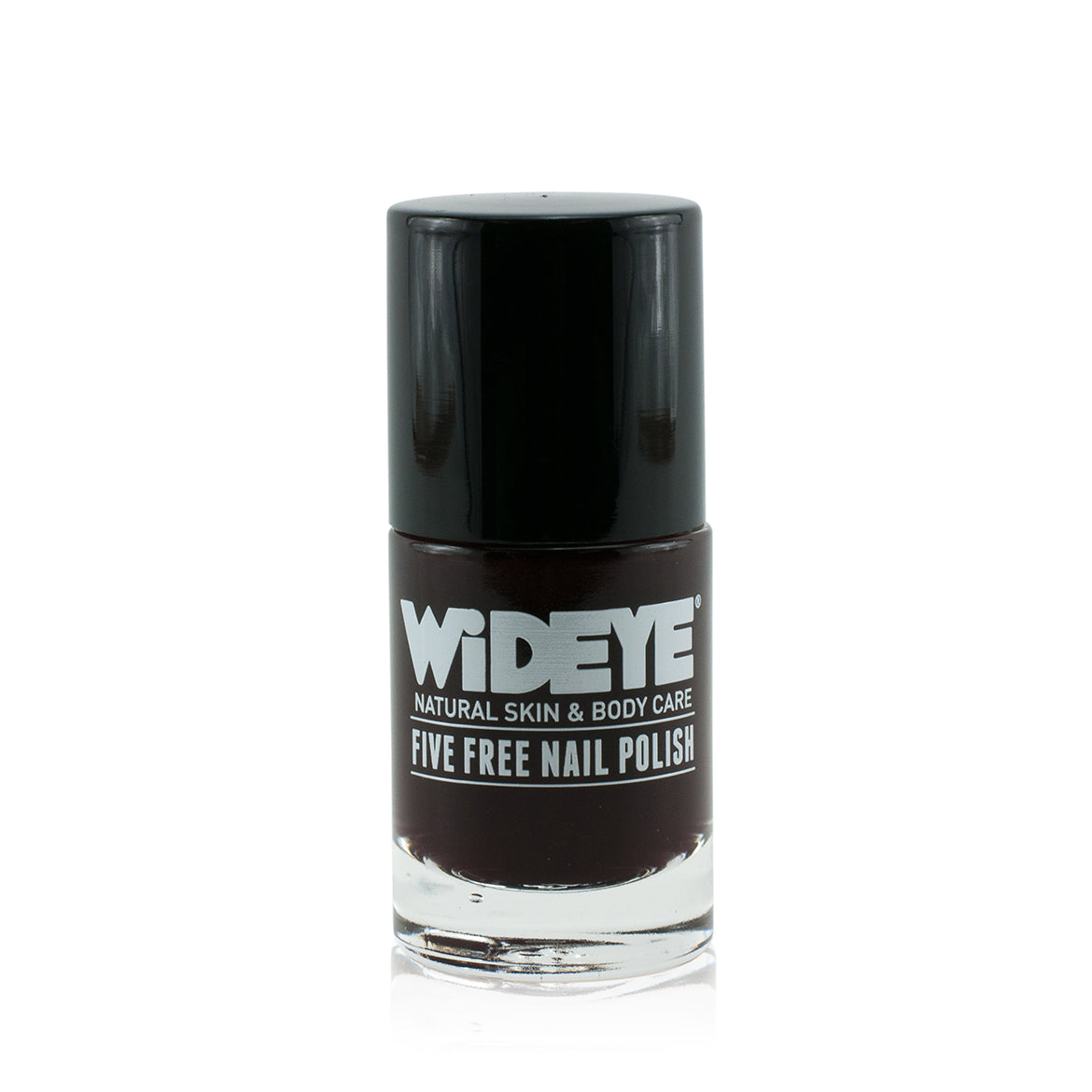 Chocolate brown nail varnish in glass bottle by WiDEYE