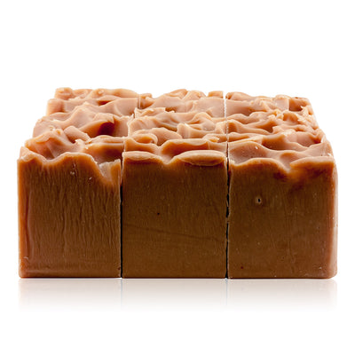 Natural vegan skincare Macadamia Nutrition soap block handmade by WiDEYE in Rye.