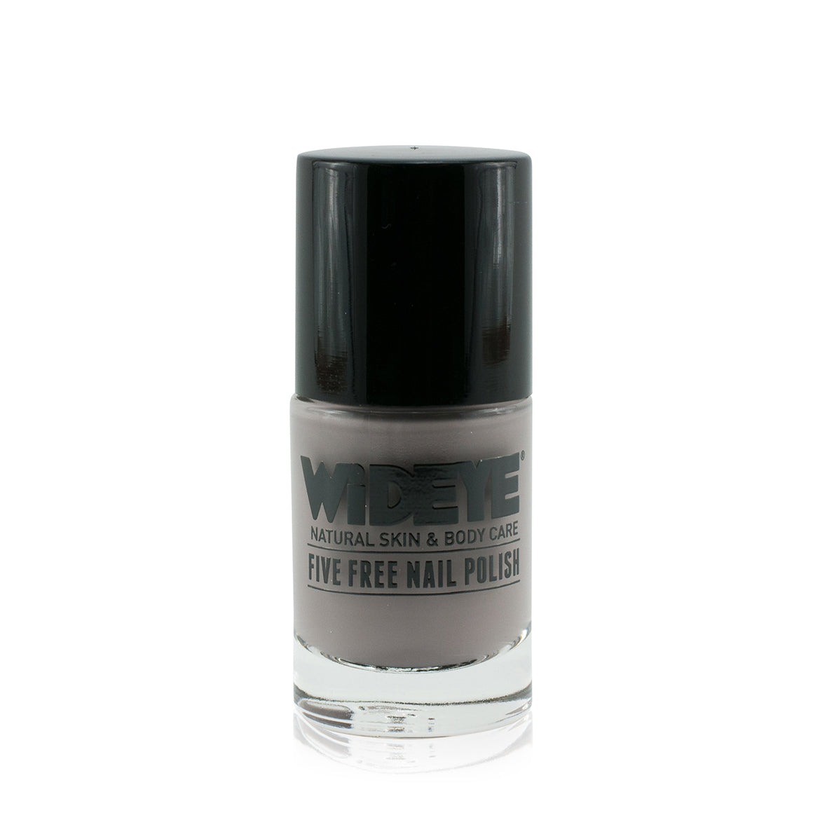 Mink grey nail varnish in glass bottle by WiDEYE.
