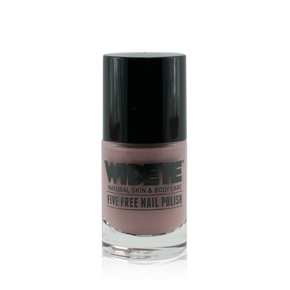 Mocha milk chocolate nail varnish in glass bottle by WiDEYE.