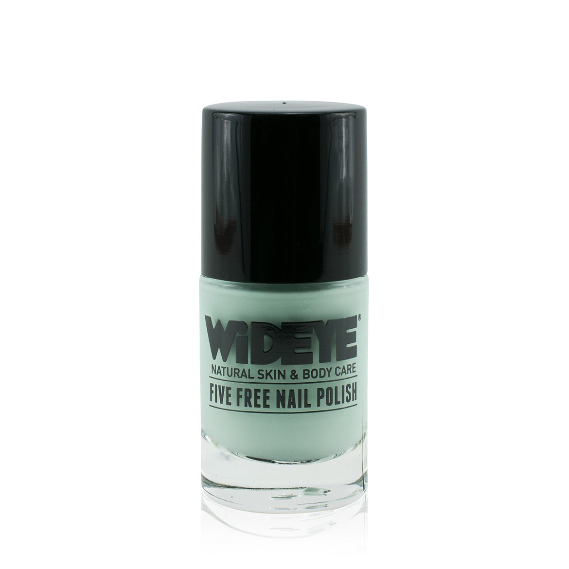 Mint green nail polish in glass bottle by WiDEYE.