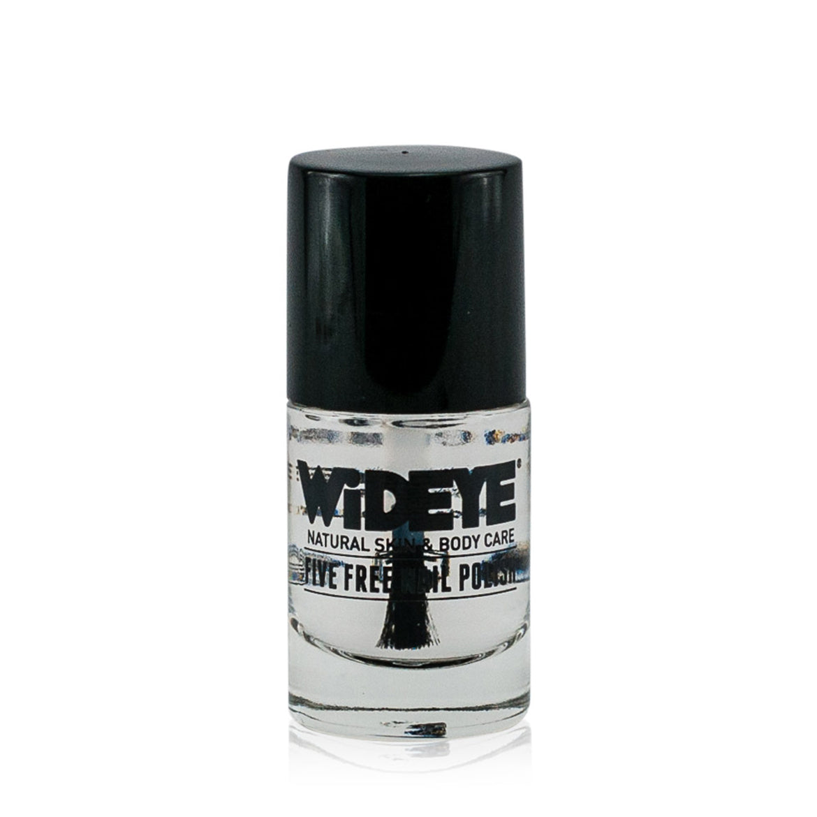 Protective top coat nail varnish in a glass bottle by WiDEYE