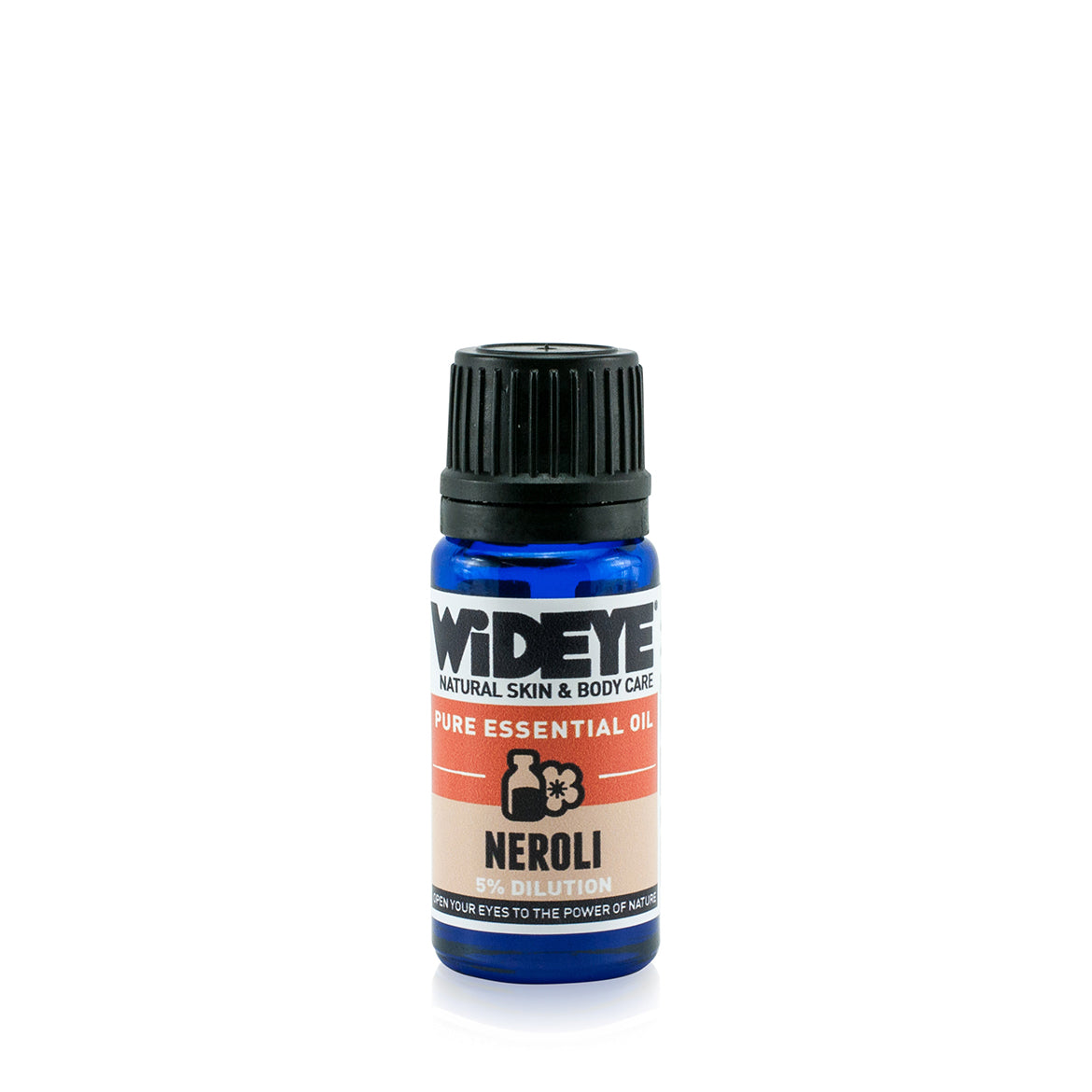 Natural aromatherapy Neroli essential oil in glass bottle by WiDEYE in Rye.
