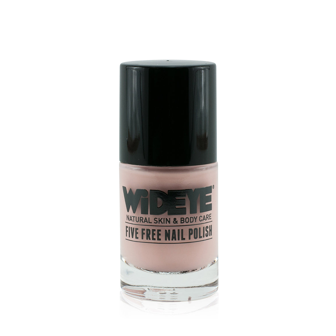 Pink skin tone nude nail varnish in glass bottle by WiDEYE.