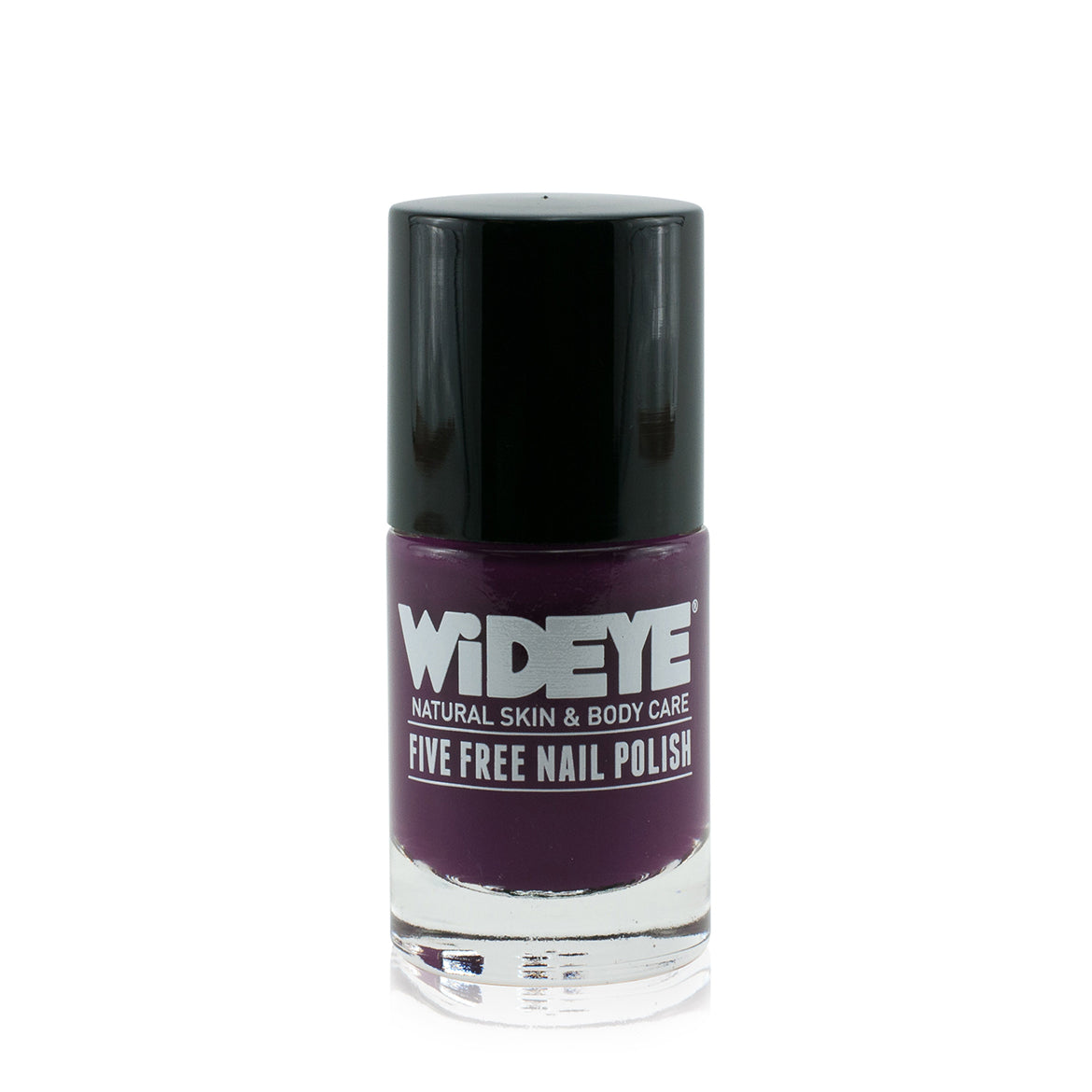 Dark purple nail varnish in glass bottle by WiDEYE