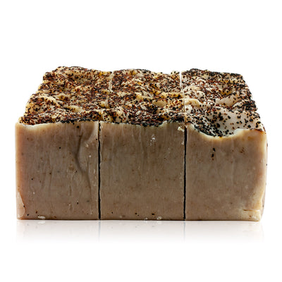 Natural vegan skincare Rosehip seed nutrition soap block, handmade by WiDEYE in Rye.