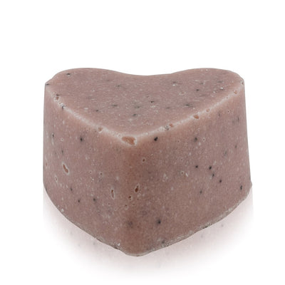 Natural vegan skincare Sandalwood sugar scrub body exfoliate bar with no packaging, handmade by WiDEYE in Rye.