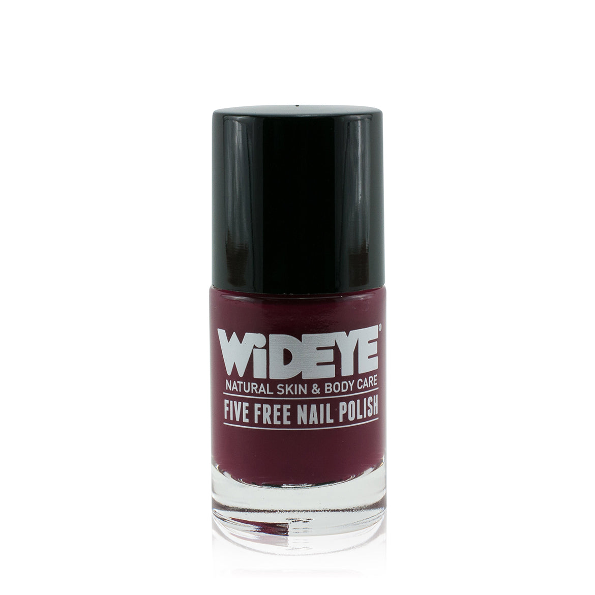 Raspberry red nail varnish in glass bottle by WiDEYE