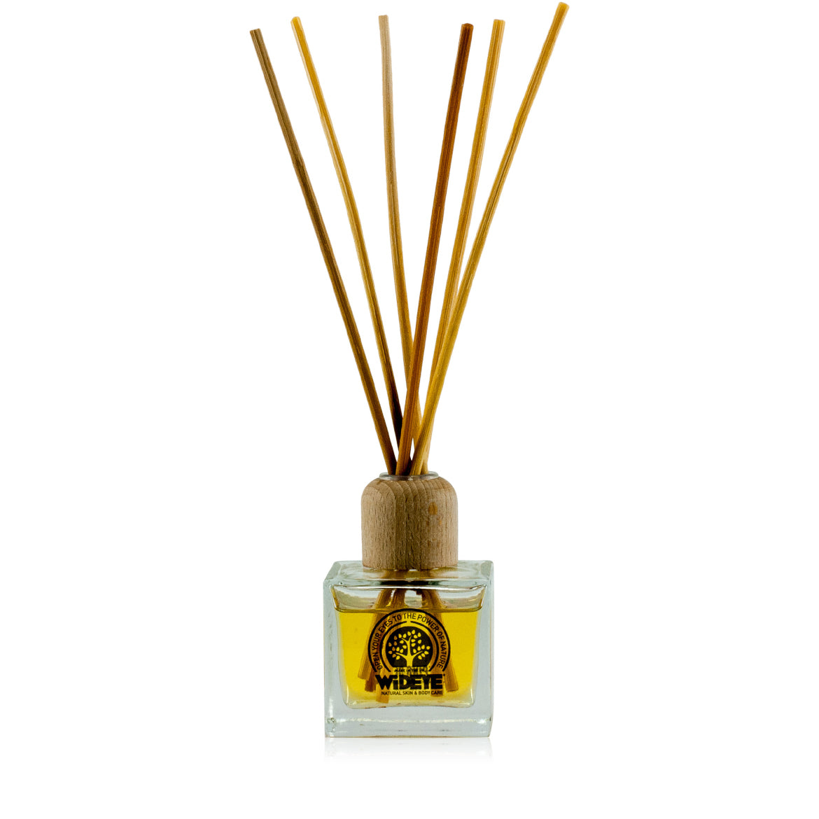 Natural vegan aromatherapy Sleeping Beauty reed diffuser in glass jar with natural reeds, handmade by WiDEYE in Rye.