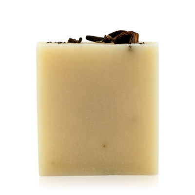 Natural vegetarian skincare Spiced Butter soap bar, handmade by WiDEYE in Rye.