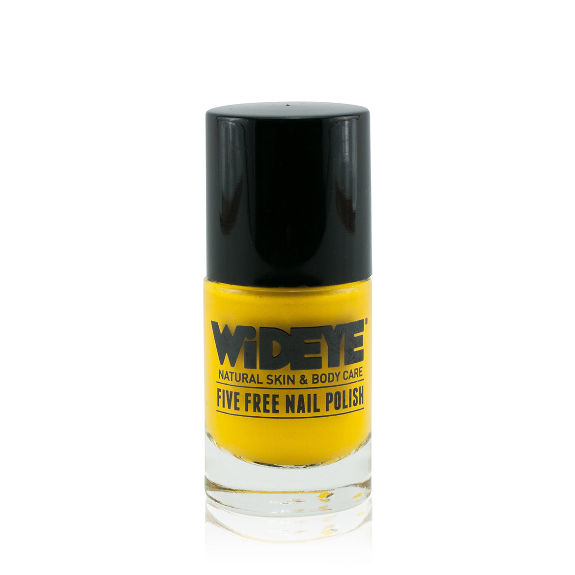 Bright bold yellow nail varnish in glass bottle by WiDEYE