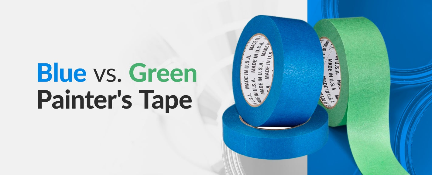 Blue vs. Green Painter's Tape