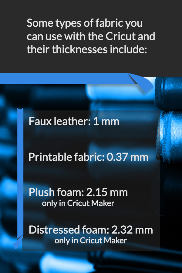 Types of fabric that can be used with Cricut - Faux leather, printable fabric, plush foam, distressed foam