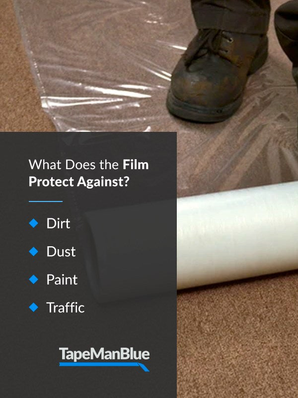 What does carpet protection film protect against?