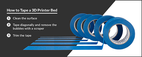 How to tape a 3D printer bed with Blue Painter's Tape