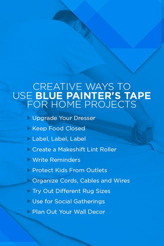 Creative ways to use blue painter's tape for home projects