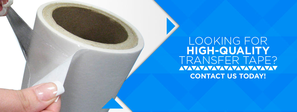 Contact TapeManBlue today to learn more about our high-quality transfer tape products