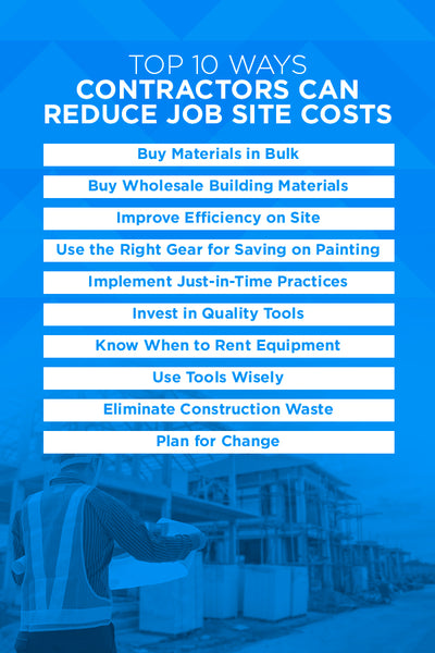 The Top 10 Ways Contractors Can Reduce Job Site Costs
