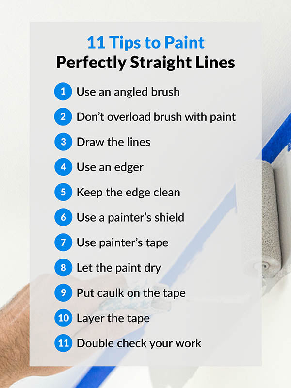 11 tips to paint perfectly straight lines