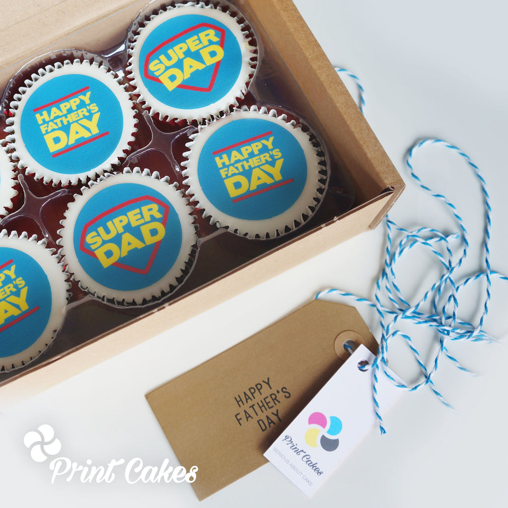 Cupcakes to send on Father's Day - Super Dad