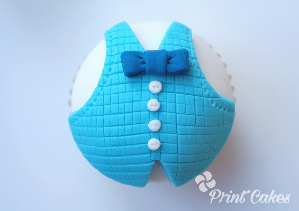 Father's Day Waist Coat cupcake tutorial gift idea.