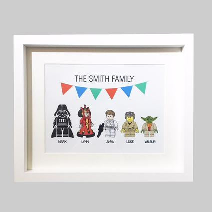 Personalised Star Wars Lego Print Gift